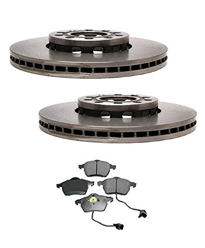 Mac Auto Parts 65957 Audi A4 & A4 Quatto (2) 2MM Front Brake Rotors & Ceramic Pads (Auto Parts Audi compare prices)