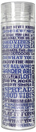 Life Is Good Double Wall Water Bottle (Ocean Blue), One Size front-1038547