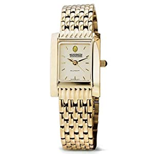 University of Tennessee Ladies Swiss Watch - Gold Quad Watch with Bracelet by M.LaHart & Co.