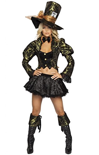 Sexy Green Mad Hatter Girl Halloween Costume