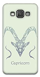 The Racoon Lean printed designer hard back mobile phone case cover for Samsung Galaxy A3. (Capricorn)