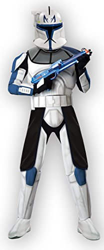 4 PC. Men's Star Wars Deluxe Captain Rex Clone Trooper Jumpsuit Set