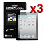 Fintie 3-Pack Clear Premium Screen Protector Film Guard for Apple iPad 2, iPad 3 and iPad 4 (the new iPad, 3rd and 4th Generation)