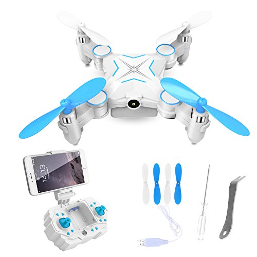 GEEDIAR-Ferngesteuerter-Quadrocopter-mini-Drohne-24GHz-mit-1MP-HD-Kamera-WiFi-FPV-Live-bertragung-Quadcopter-SmartphoneFernbedienung-gesteuertBlau