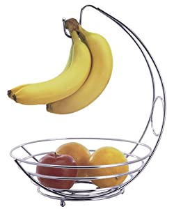 Progressive International Chrome Wire Fruit Bowl