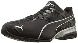 PUMA Men\'s Tazon 6 Cross-Training Shoe, Black/Silver, 10.5 M US
