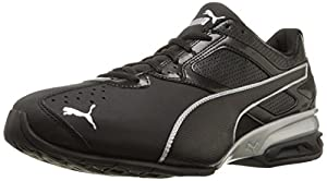 PUMA Men's Tazon 6 Cross-Training Shoe, Black/Silver, 13 M US