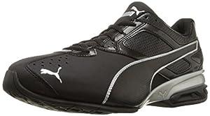 PUMA Men's Tazon 6 Cross-Training Shoe, Black/Silver, 13 M US