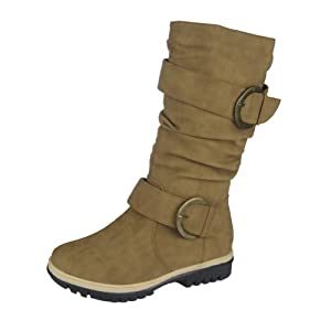 Comfy Moda Women's Lora Winter Snow Boots (6, Tan)