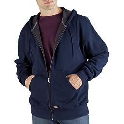 Dickies Men\'s Thermal Lined Fleece Jacket, Dark Navy, X-Large Tall