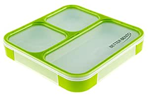 Better Bento 100% Leak Proof Lunch Box - Great for School, Portion Control, and Meal Prep, Green