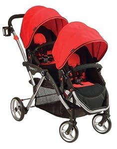 Contours Options LT Tandem Stroller, Crimson Red (Discontinued by Manufacturer)