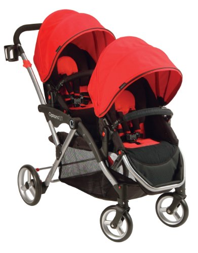 Learn More About Contours Options LT Tandem Stroller, Crimson Red