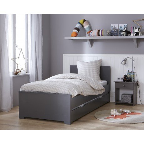 Alfred & Compagnie - Lit gigogne promo avec sommiers anthracite Oscar