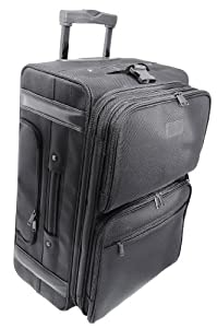 Kantek 22-Inch Rolling Dual-Side Computer Case/Overnighter with Zippered Suit Carrier (LGCC222)