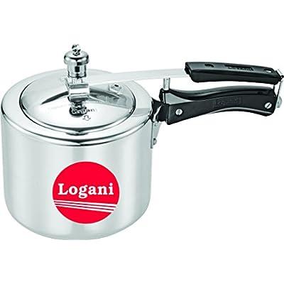 Logani Aluminium 6.5 litre Inner Lid Pressure Cooker
