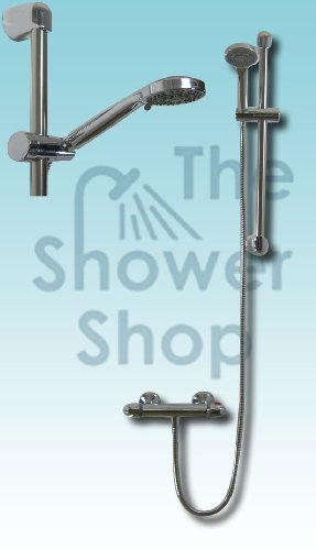Complete Thermostatic Mixer Valve Shower Kit Mixers Taps