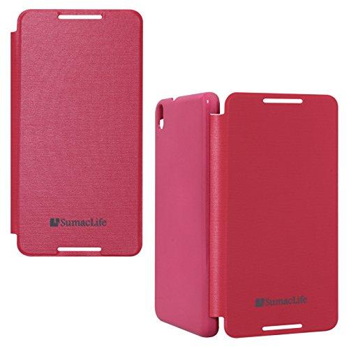 SumacLife Premium Flip Cover Case for HTC Desire 816G (Magenta)