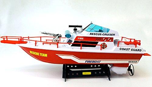 Brigamo-533-Ferngesteuertes-Boot-Kstenwache-Feuerwehr-Schiffsmodell-mit-funktionierendem-Blaulicht