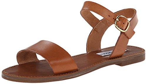 Steve Madden Women's Donddi Dress Sandal, Tan Leather, 6 M US