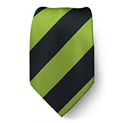 B-S-ADF-412 - Boy's - Avocado Black - College Stripe Tie