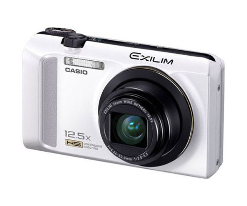 Casio Exilim EX-ZR200 digital camera (16 Megapixel, 12x opt. Zoom) white