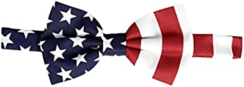 American Flag Bow Tie Pre Tied Men's BOWTIE