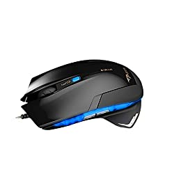 E-Blue Mazer 2400 DPI EMS124 LED Shark Concept Design Wired 6D Gaming Mouse (Blue)