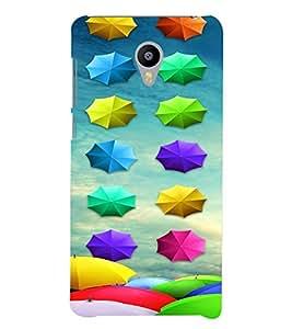 PrintVisa Umbrella Pattern 3D Hard Polycarbonate Designer Back Case Cover for Meizu M3