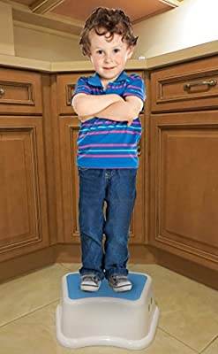 Kids Best Friend Boys Blue Stool, Take It Along in Bedroom, Kitchen, Bathroom and Living Room. from Angels