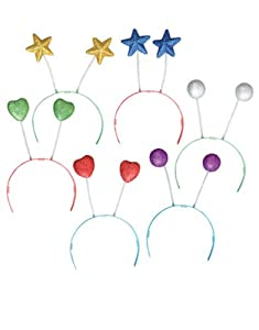 Rhode Island Novelty Assorted Sparkle Head Boppers, 12-Piece