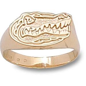 University of Florida Gator Head Ring - 14K Gold-Size 6.5 by Logo Art