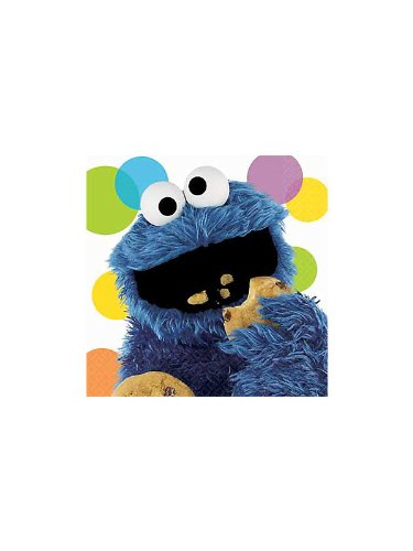 Amscan Cookie Monster Lunch Napkins, Multicolor