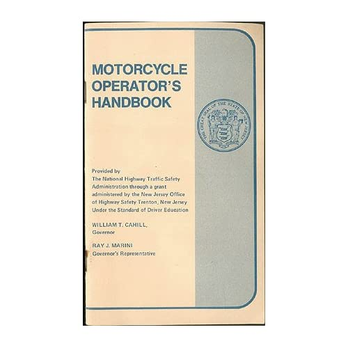 New Jersey Motorcycle Operator's Handbook ca. 1973, New Jersey Division of Motor Vehicles