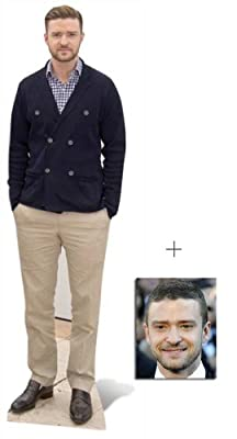 Fan Pack - Justin Timberlake Lifesize Cardboard Cutout / Standee - Includes 8x10 (20x25cm) Star Photo