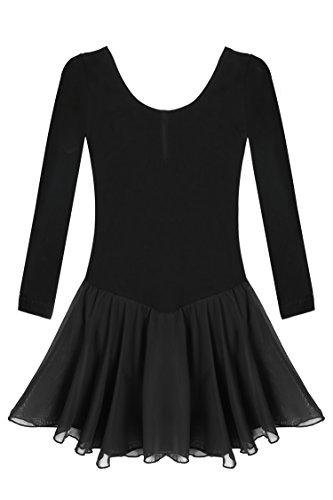 Arshiner Girls'Cute Sweet Dancing Ballet Dress Long Sleeve Leotard