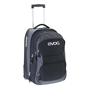evoc kleiner reise trolley terminal bag black m 60l koffer rucks cke taschen. Black Bedroom Furniture Sets. Home Design Ideas