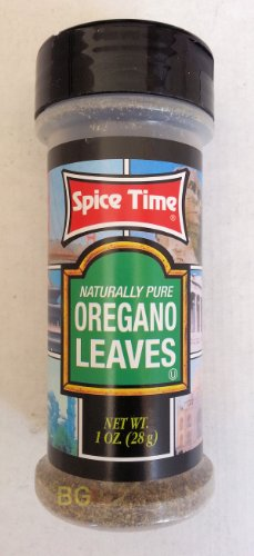 Naturally Pure Oregano Leaves By Spice Time Spices & Herbs 1Oz... Mtc