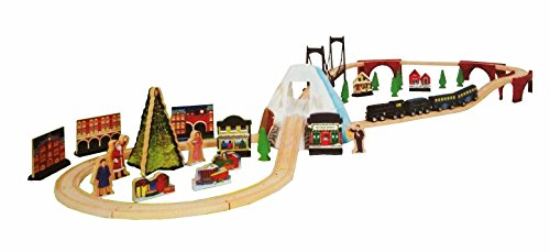 Polar Express Wood Train Set With Bell 139 95