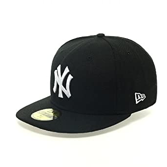 New Era Cap MLB BASIC NEW YORK YANKEES black white, 7 5/8 (60.6cm)