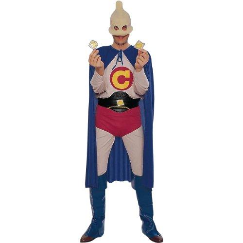 Forum Captain Condom Humorous Superhero Costume, Multi, One Size