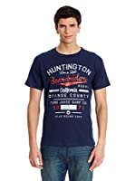 Pure Juice Camiseta Manga Corta Huntingdon (Azul Marino)