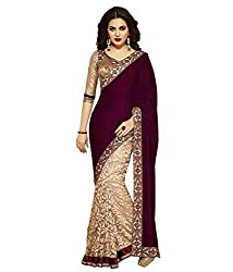 My online Shoppy Georgette Saree (My online Shoppy_10_Multi-Coloured)