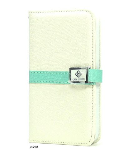 Basicase ™ White Leather Diary Book Folio Tri-Fold Stand Flip Cover Folio Case For Iphone 5 U821D With Special Free Gift By Bydico ™