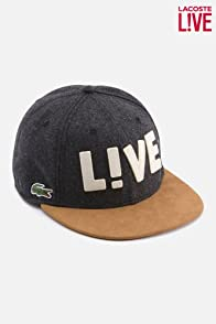 Men's L!VE Wool Flannel Flat Brim Cap