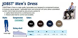 JOBST Men\'s Dress Knee High 8-15 Closed Toe Socks, Navy, Small