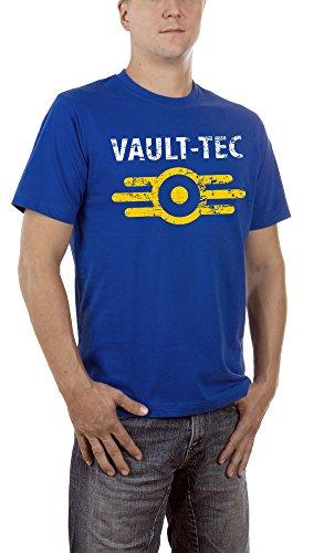 Touchlines - Vault Tec, T-Shirt uomo, Royal 09, XX-Large