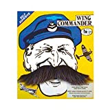 Grey Wing Commander Fake Moustache (struts-6992)