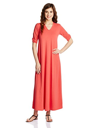 Chemistry Women's Cotton A-Line Dress (C16-909KDLDR_Hot Coral_Small)