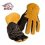 Revco Industries BM88L BSX BM88 Extreme Pig Skin MIG Welding Gloves (Color: Black/Brown, Tamaño: Large)